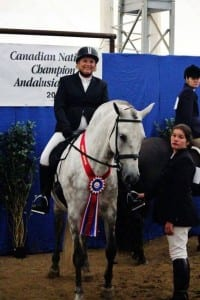 Anne riding Triana 2015 Champion